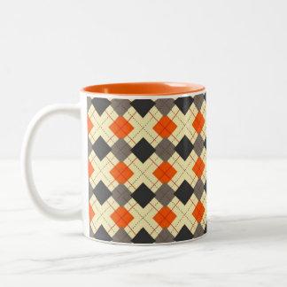 Argyle Barbecue Two-Tone Coffee Mug