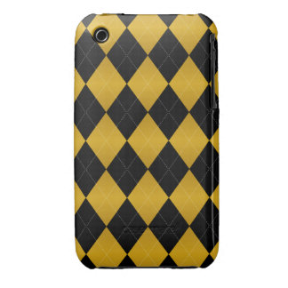 Argyle Black-Gold iPhone 3g/3gs Cases iPhone 3 Cover