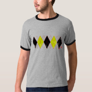 argyle black yellow T-Shirt