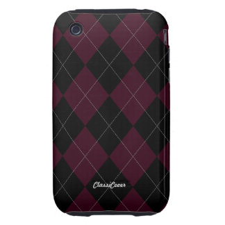 Argyle Blood Red Case Mate iPhone 3 Tough Cover