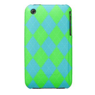 Argyle, Blue-Neon iPhone 3g/3gs Case iPhone 3 Covers