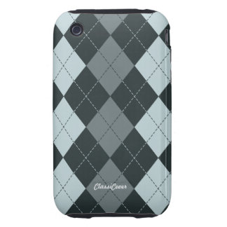 Argyle Blue Shadow Case Mate iPhone 3 Tough Covers