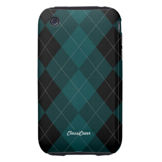 Argyle Blue Teal Case Mate Tough iPhone 3 Covers