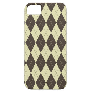Argyle Brown and White Cream Case For The iPhone 5