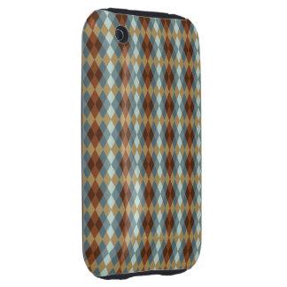 Argyle Brown Neutral iPhone 3 Tough Case