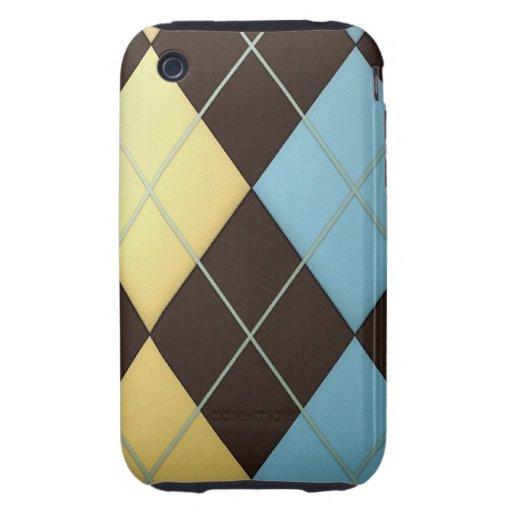 Argyle Tough iPhone 3 Case