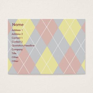 Argyle - Chubby Business Card