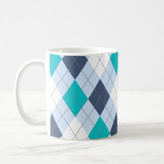 "Argyle: Code Name ""Eclectic Blue"" mug"