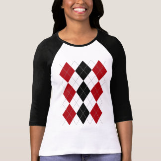 "Argyle: ""Crimson Contrast"" shirt (light)"