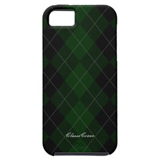 Argyle Dark Forest Green Pattern Case Mate Case For The iPhone 5