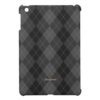 Argyle Dark Gray Pattern iPad Mini Case