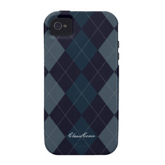 Argyle Deep Blue Pattern Case Mate Case For The iPhone 4