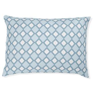 Argyle/Diamond Blue Dog Bed