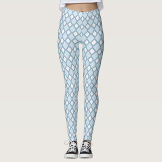 Argyle/Diamond Blue Leggings