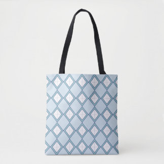 Argyle/Diamond Blue Tote