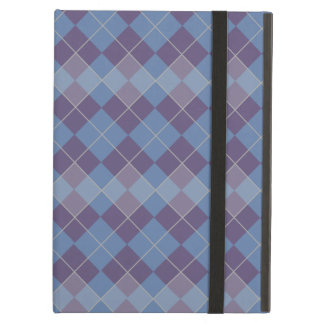 Argyle Diamond Plaid Pattern in Blue and Purple Cover For iPad Air