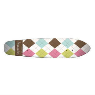 Argyle Diamond Stitch Old School Skateboard