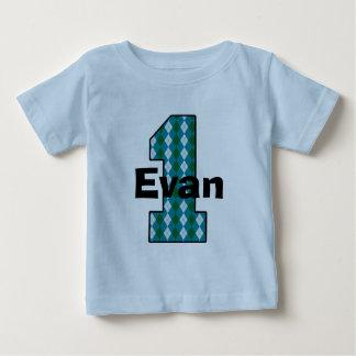 Argyle First Birthday Boy Shirt