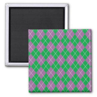 Argyle Flair Square Magnet