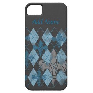 Argyle Fleur de lis Custom iPhone 5 Case