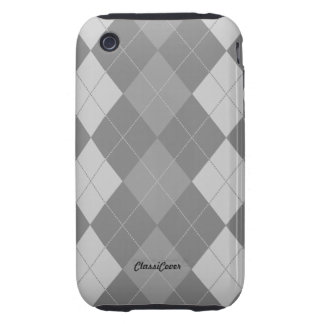 Argyle Gray Pattern Case Mate iPhone 3 Tough Cover