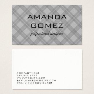Argyle Gray Texture Business Card