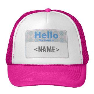 Argyle Hello My Name is, <NAME> Cap
