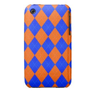 Argyle Orange and Blue- iPhone 3g/3gs Cases iPhone3 Case