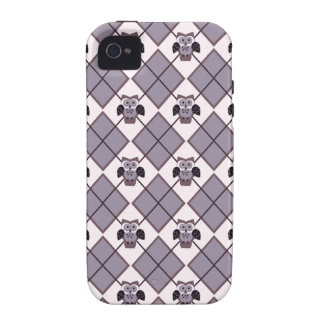 Argyle owl violet pattern iPhone 4 covers