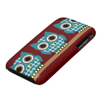 argyle owls iPhone 3 case