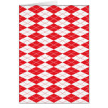 Argyle Pattern 1 Red Greeting Cards