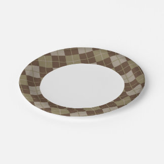 Argyle Pattern 7 Inch Paper Plate