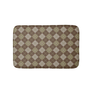 Argyle Pattern Bath Mat