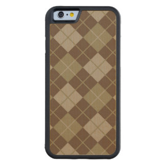 Argyle Pattern Carved Maple iPhone 6 Bumper Case