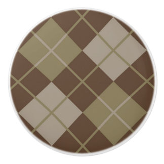 Argyle Pattern Ceramic Knob
