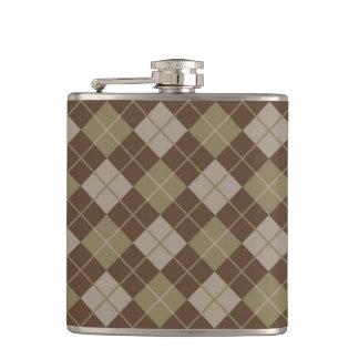 Argyle Pattern Hip Flask