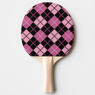 Argyle Pattern in Black and Pink