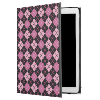 "Argyle Pattern in Black and Pink iPad Pro 12.9"" Case"