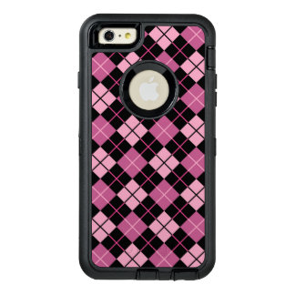 Argyle Pattern in Black and Pink OtterBox iPhone 6/6s Plus Case