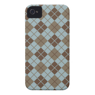 Argyle Pattern in Blue and Taupe Case-Mate iPhone 4 Cases