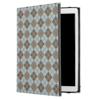 "Argyle Pattern in Blue and Taupe iPad Pro 12.9"" Case"