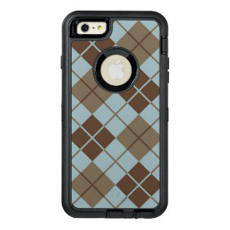 Argyle Pattern in Blue and Taupe OtterBox iPhone 6/6s Plus Case