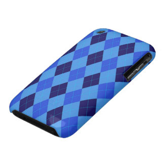 Argyle Pattern in Shades of Blue beautiful iPhone 3 Case-Mate Cases