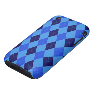 Argyle Pattern in Shades of Blue beautiful iPhone 3 Tough Cover