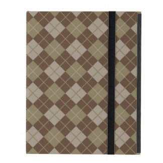 Argyle Pattern iPad Folio Case
