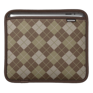 Argyle Pattern iPad Sleeves