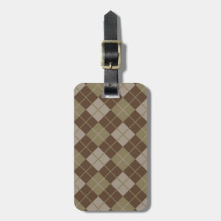 Argyle Pattern Luggage Tag