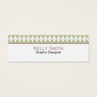 Argyle Pattern Mini Business Card