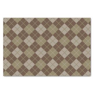Argyle Pattern Tissue Paper