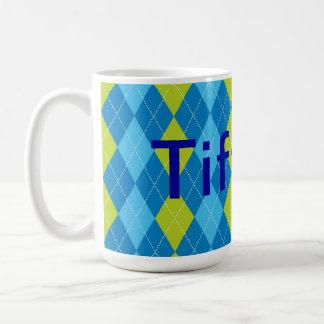 Argyle personalized mug
